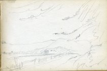 Image of [Untitled: Lake Scene] - Drawing