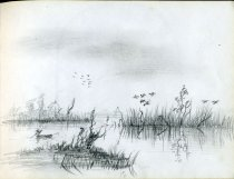 Image of [Untitled: Pond] - Drawing