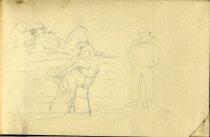 Image of [Untitled: Three Men] - Drawing