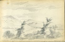Image of [Adirondacks from Schroon] - Drawing