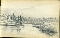 Image of [The Hudson at Newcomb] - Drawing