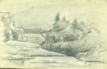 Image of [Untitled: Bridge & River] - Drawing