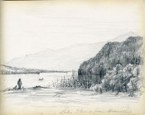 Image of [Lake Placid from Brewsters] - Drawing