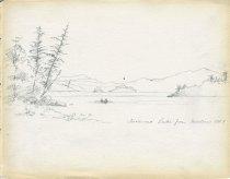 Image of [Saranac Lake from Martins] - Drawing