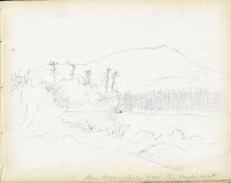 Image of [Blue Mountain from the Eagle's Nest] - Drawing
