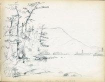 Image of [Blue Mountain Lake] - Drawing