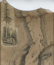 Image of Map of Lake George - Drawing