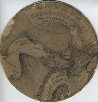 Image of Map of the Ruins of Ticonderoga - Drawing