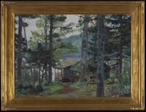 Image of Untitled: Camp in Fir Trees - Painting
