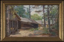 Image of Untitled: Camp, Trees - Painting