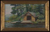 Image of Boathouse, Camp - Painting