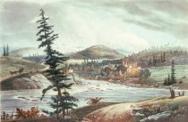 Image of The Junction of the Sacandaga And Hudson Rivers. - Print