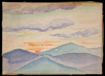 Image of Sunrise From Scott Pond Camp - Painting