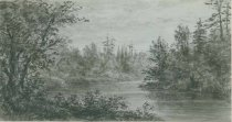 Image of The Raquette River - Drawing