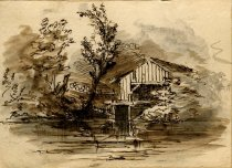 Image of [Untitled: Boathouse] - Drawing