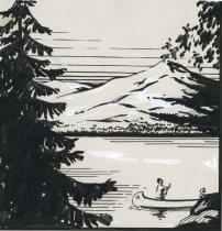 Image of Hotel Adirondack, Long Lake - Drawing