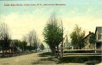 Image of South Main Street, Indian Lake, N.Y., Adirondack Mountains - Postcard