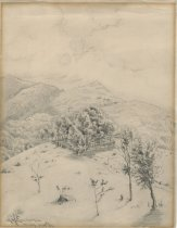 Image of Near Giant's Mountain, Keene Valley - Drawing
