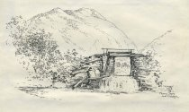 Image of Marcy Dam and Colden - Drawing