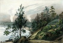 Image of Cours De l'Hudson et moulins pres Sandy Hill - Print