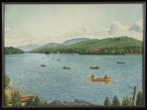 Image of A Party Guide-Boating Thru Long Lake ca. 1900 - Painting