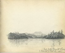 Image of East Inlet, Raquette Lake - Drawing