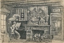 Image of Interior of Camp Oteetiwi - Drawing