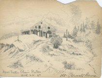 Image of Near Fulton Chain Station, Old Arnold Home - Drawing