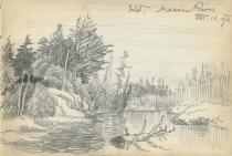 Image of Inlet, Marion River - Drawing