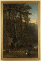 Image of Early Morning in the Adirondacks: The Successful Hunter - Painting