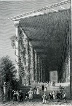 Image of Colonnade of Congress-Hall. (Saratoga Springs.) - Print