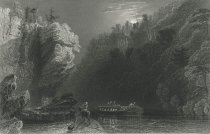 Image of View On the Erie Canal Near Little Falls. - Print
