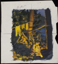 Image of Campfire Sketch - Painting