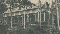 Image of Under the Hemlocks, Hotel. Raquette Lake, Adirondacks, N.Y. - Collotype