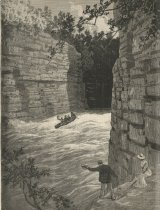Image of New York - Running the Rapids, Ausable Chasm - Print