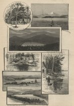 Image of New York. - Lake and Mountain Views in the Adirondack Region. - Print