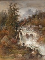 Image of Rapids of the Au Sable - Painting