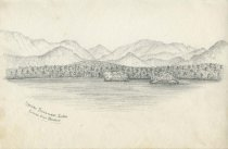 Image of Upper Saranac Lake from Our Bower - Drawing
