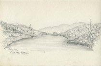 Image of Long Lake From near Kellogs - Drawing