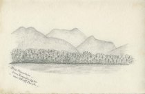 Image of Blue Mountain from Raquette Lake, near Bluff Point - Drawing