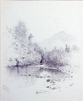 Image of Ausable River - Drawing
