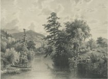 Image of View On the Raquette River, N.Y. - Print