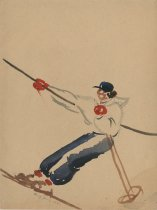 Image of [Skier with Poles] - Painting