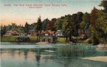 Image of A-1424. Fish Rock Camp, Wawbeek Upper Saranac Lake, Adirondacks. - Postcard