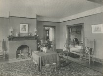 Image of In the Cottage, Prospect House, Blue Mountain Lake, Adirondacks, N.Y. - Collotype