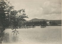 Image of Steamboat Landing at the Prospect House, Adirondacks, N.Y. - Collotype