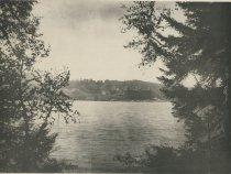 Image of Utowana House from Cranes Woods, Blue Mountain Lake, Adirondacks, N.Y. - Collotype