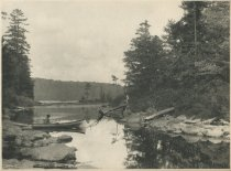 Image of Outlet of Little Forked Lake, Adirondacks, NY - Collotype