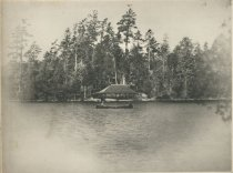 Image of Boat House at Camp Cedars, Forked Lake. Adirondacks, N.Y. - Collotype