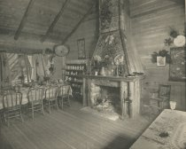 Image of Dining Room, Camp Cedars, Forked Lake, Adirondacks, N.Y. - Collotype